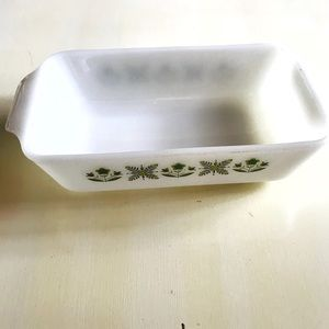 Vintage Anchor Hocking Meadow Green Meatloaf Pan